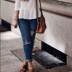 [Loft] Distressed Boyfriend Jeans Size 0